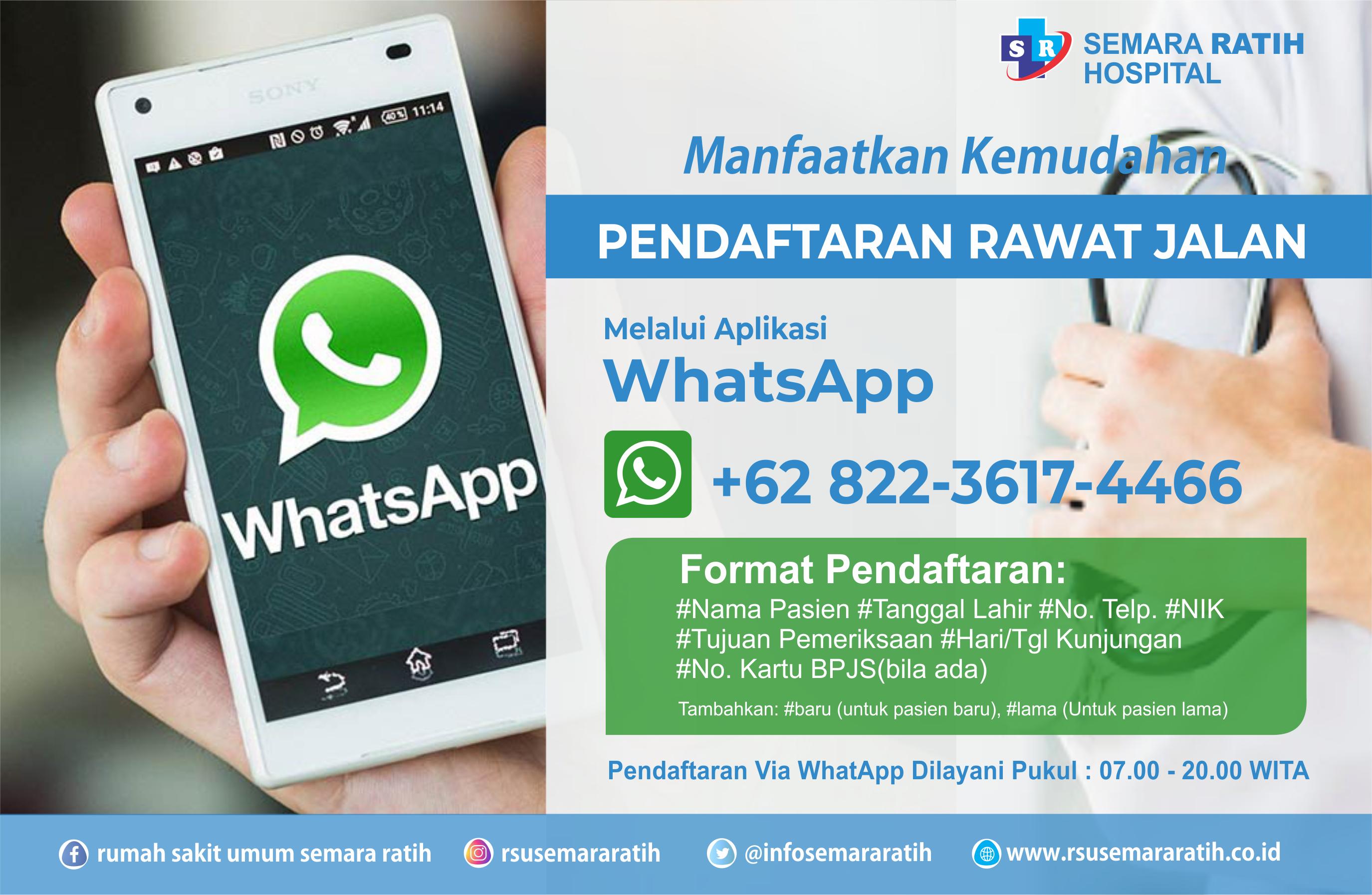 Pendaftaran Online Via WhatsApp