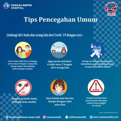 Tips Pencegahan Umum Covid-19