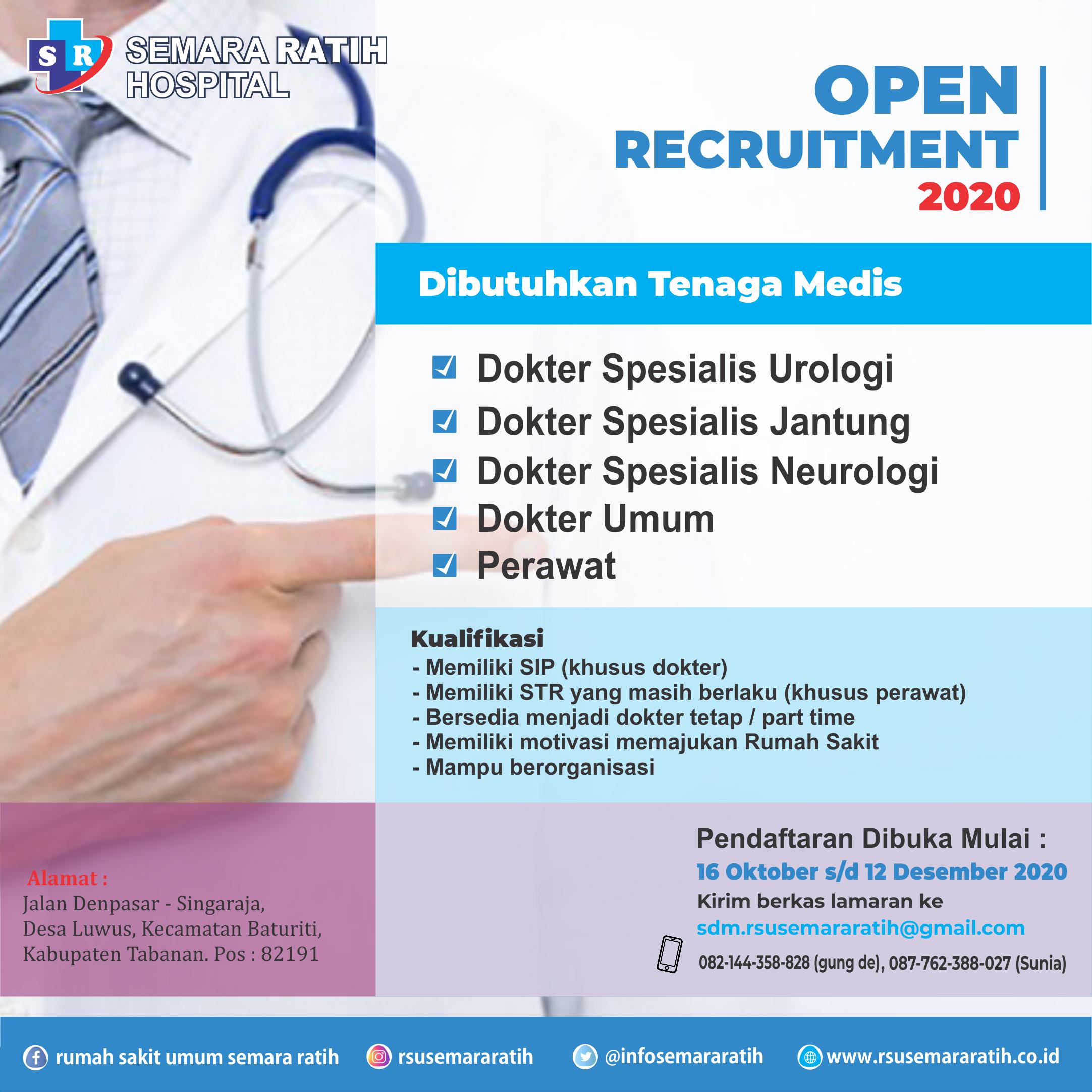 Lowongan Kerja Dokter Dan Perawat (16. November 2020)
