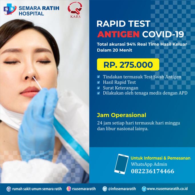 Pemeriksaan Rapid Test Antigen